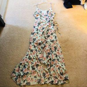 Altar'd State Floral Wrap Maxi Dress